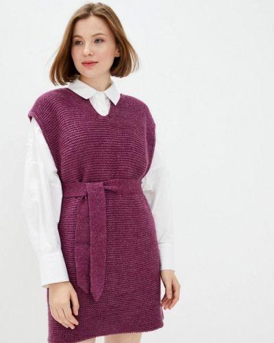 Фиолетовое трикотажное вязаное платье Прованс