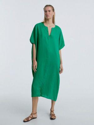 Зеленое платье осеннее Oysho