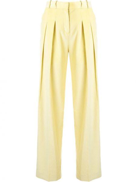 Свободные брюки вельветовые со складками Victoria, Victoria Beckham