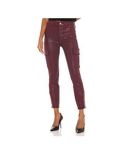 Красные джинсы-скинни с карманами на молнии 7 For All Mankind