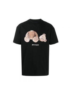 T-shirt bawełniana - czarna Palm Angels
