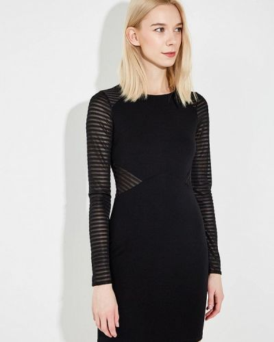 Черное платье с длинными рукавами French Connection