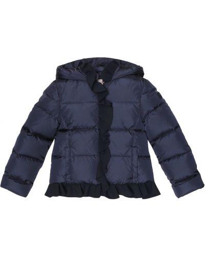 Puchaty niebieski płaszcz Il Gufo