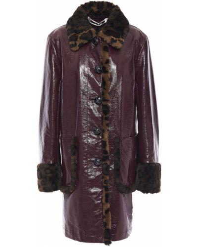 Пальто из искусственного меха с карманами с опушкой Mcq Alexander Mcqueen