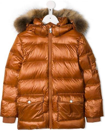 Оранжевая пуховая куртка Pyrenex Kids