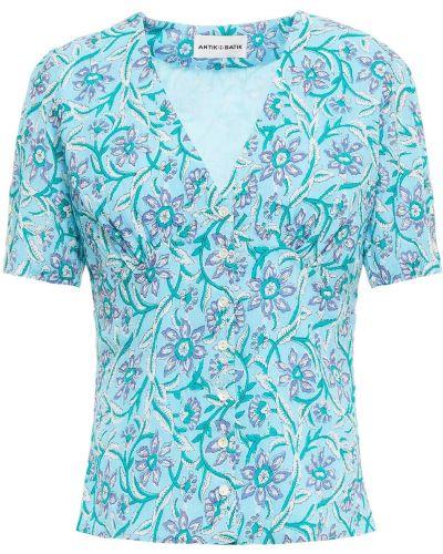Niebieska bluzka bawełniana Antik Batik
