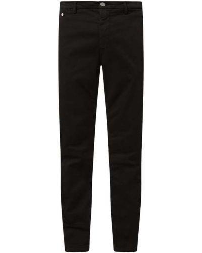 Czarne spodnie zapinane na guziki Replay