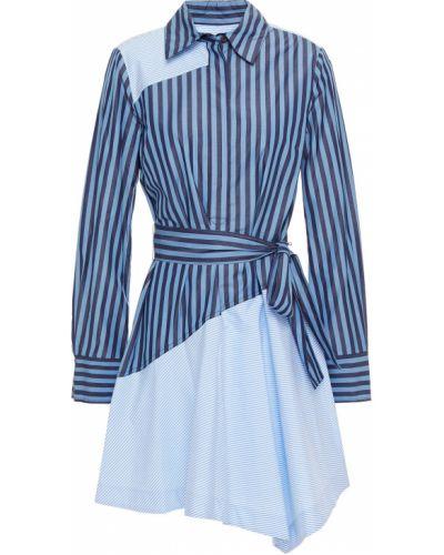 Синее платье мини с поясом в полоску Derek Lam 10 Crosby
