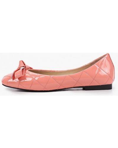 Кожаные лаковые розовые балетки Tuffoni