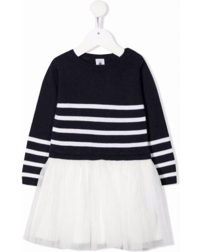 Biała sukienka długa tiulowa Petit Bateau
