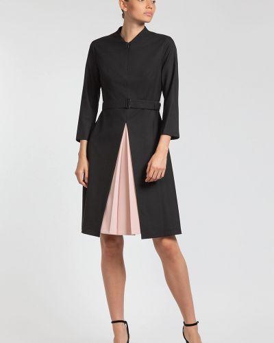 Платье миди со вставками со складками Vassa&co