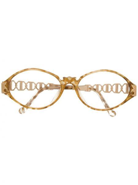 Желтые очки металлические Christian Lacroix Pre-owned