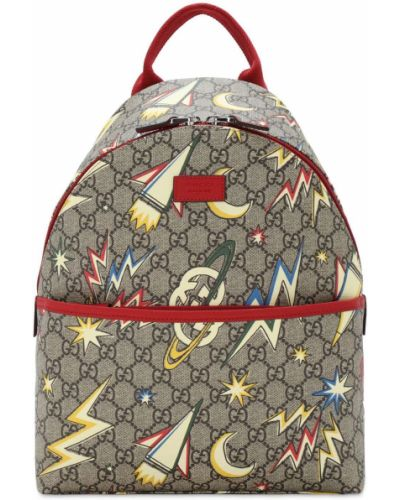 Beżowy nylon z paskiem plecak na paskach Gucci