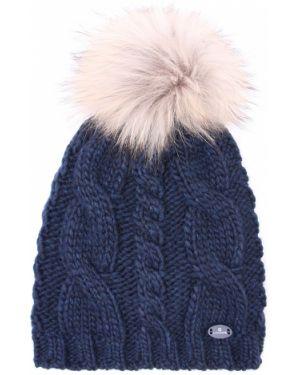 Синяя акриловая классическая шапка с помпоном Canadiens