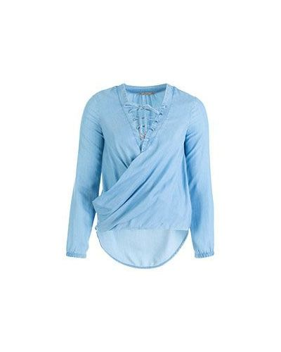 Рубашка с запахом асимметричная Patrizia Pepe