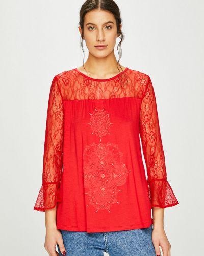 Блузка из вискозы красная Desigual