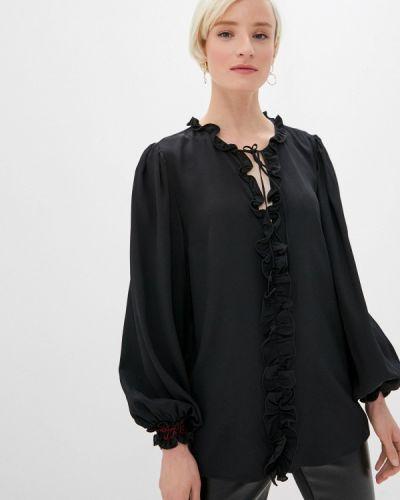 С рукавами черная блузка Cavalli Class
