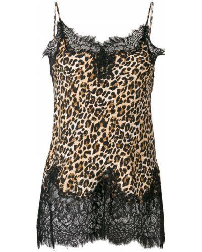 Блузка кружевная с леопардовым принтом Gold Hawk