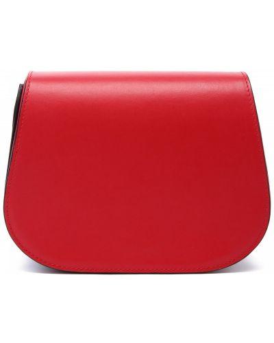Кожаная красная сумка Doria Maria