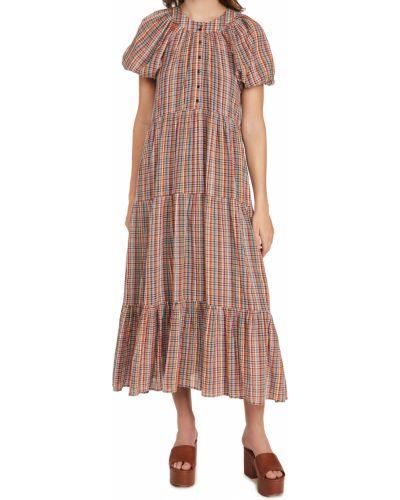 Текстильное платье в клетку The Great.