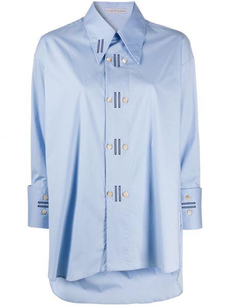 Синяя рубашка с воротником на пуговицах двубортная Palmer / Harding