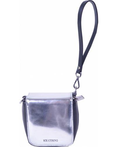 Кожаный сумка серебряный Iceberg