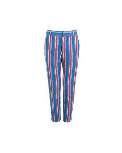 Красные хлопковые повседневные брюки Stella Jean