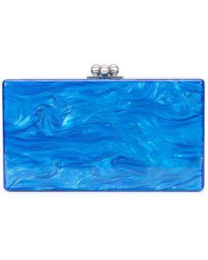 Акриловая синяя сумка Edie Parker
