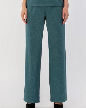 Свободные брюки зеленый расклешенные S&a Style