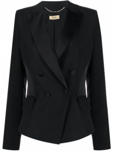 Классический пиджак черный в полоску Liu Jo