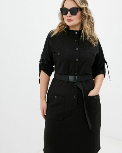 Прямое черное платье Chic De Femme
