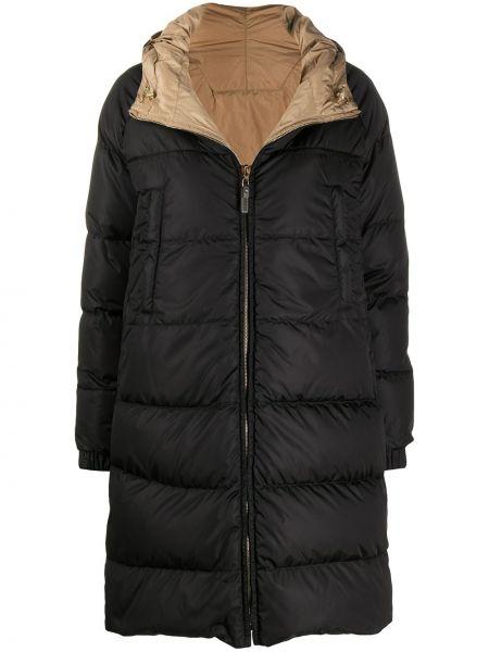 Czarny płaszcz z długimi rękawami Max Mara The Cube