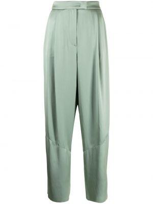 Зеленые прямые с завышенной талией брюки Giorgio Armani