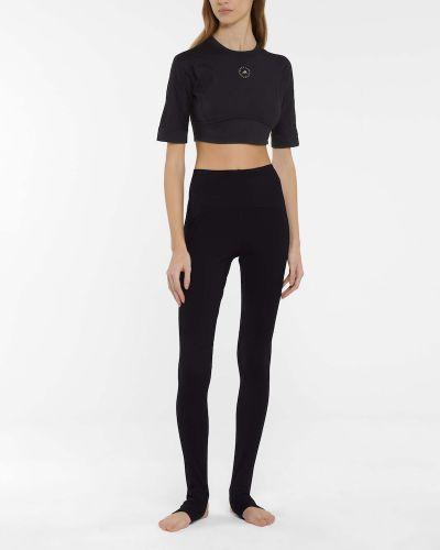 Черный кроп-топ для йоги Adidas By Stella Mccartney