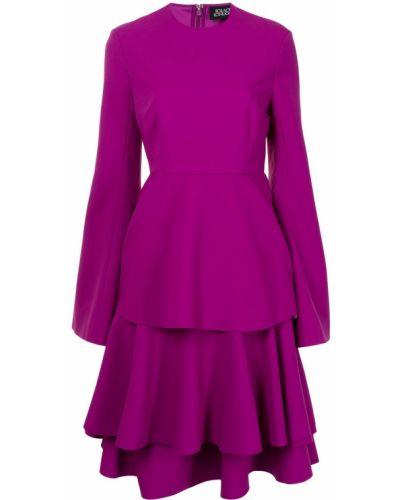 Платье макси с длинными рукавами - фиолетовое Solace London
