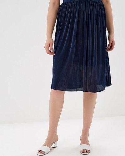 Плиссированная юбка синяя наше