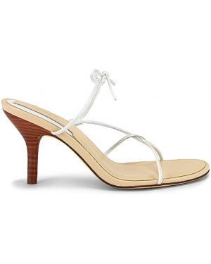 Żółte sandały skorzane Jaggar