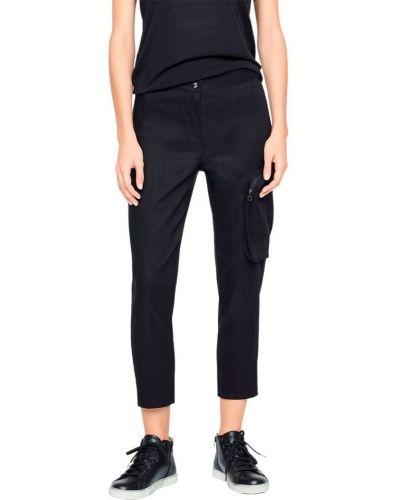 Lniane czarne spodnie Sarah Pacini