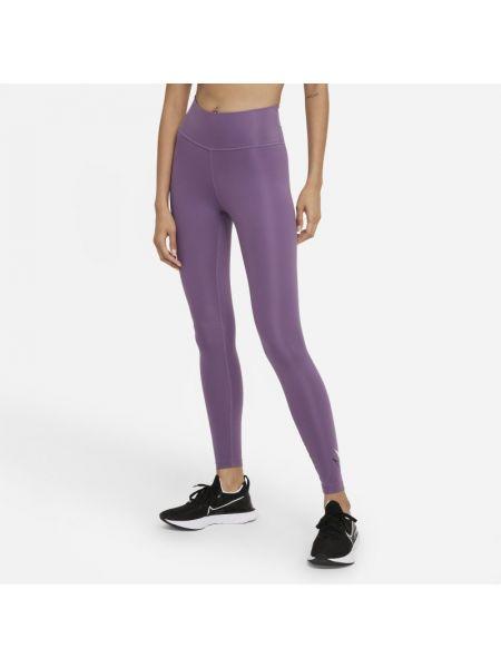 Brokatowe fioletowe legginsy Nike