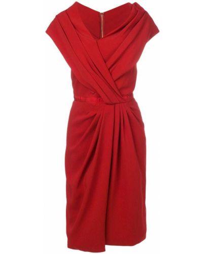 Платье асимметричного кроя - красное Vionnet