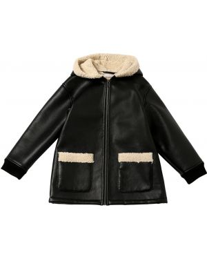 Płaszcz z mankietami skórzany Stella Mccartney Kids