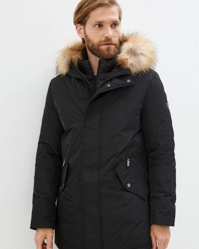 Черная куртка короткая Madzerini