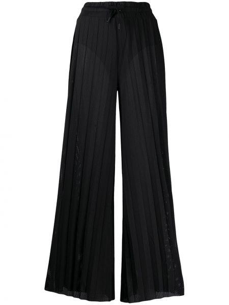 Свободные брюки черные со складками Kappa