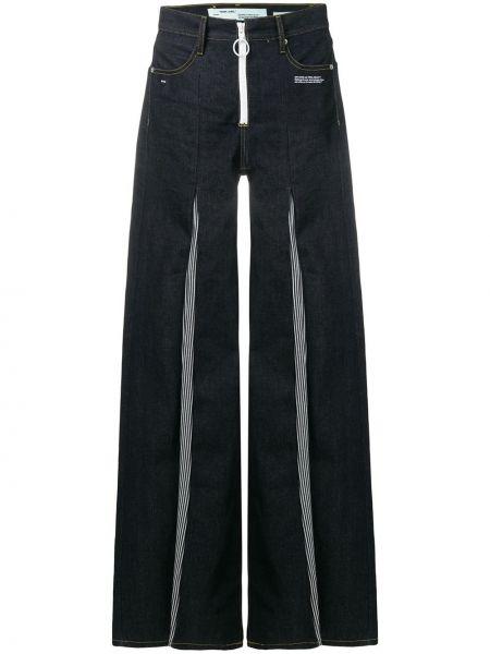 Расклешенные джинсы в полоску с узором Off-white