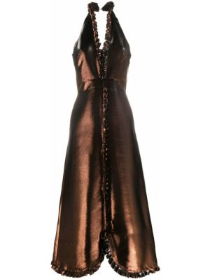 Вечернее платье с открытой спиной миди Temperley London