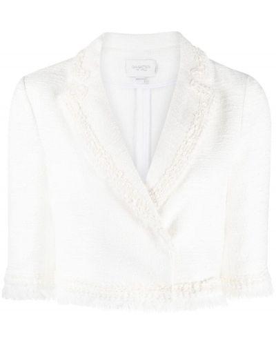 Белый пиджак твидовый Giambattista Valli