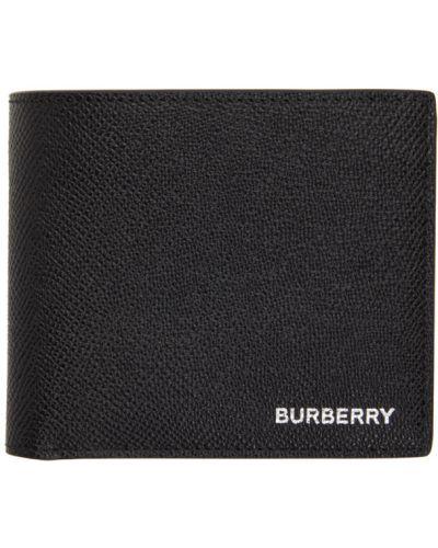 Текстильный черный кошелек для монет с карманами Burberry