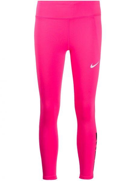 Różowy legginsy rozciągać Nike