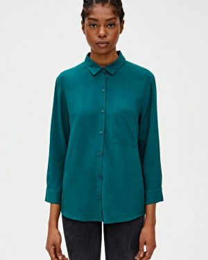 Блузка с длинным рукавом зеленый Pull&bear