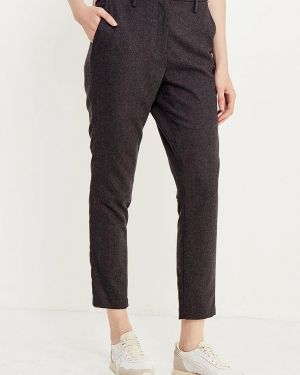 Серые брюки с завышенной талией Selected Femme